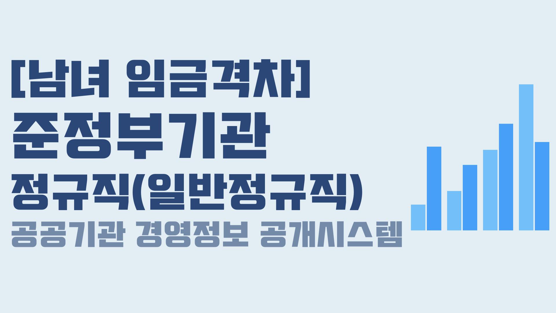 [공공기관 남녀 임금격차] 준정부기관 - 정규직(일반정규직)